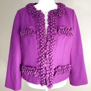 J CREW Wool Ruffled Blazer
